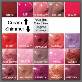 Lip Glow Colors